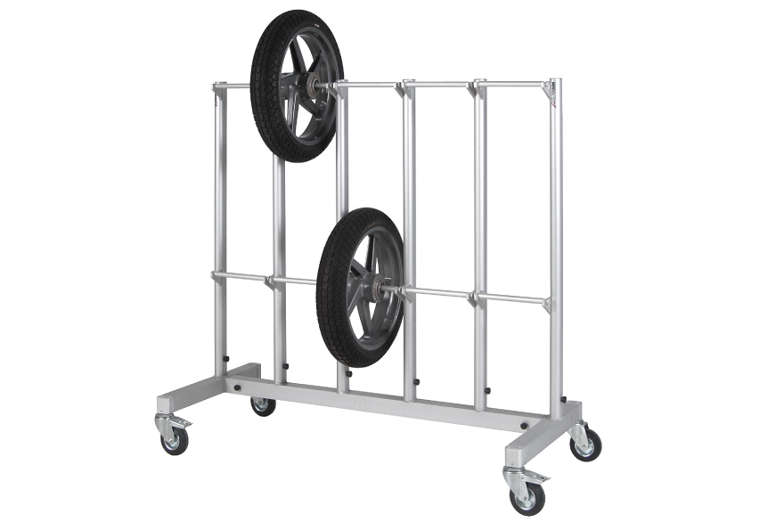 Wheel stands for tire warmers