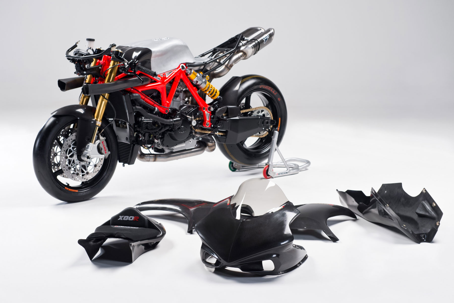 Pierobon X80R : Pierobon Frames - frames and accessories for motorcycle